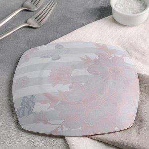 Тарелка десертная Доляна «Полоска», d=20 см