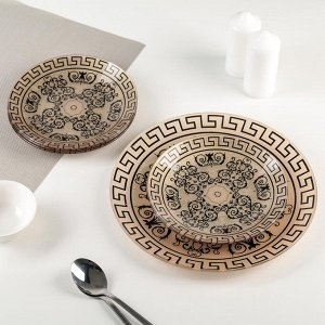 Сервиз столовый «Стиль 2» на 6 персон: 6 тарелок d=20 см, 1 тарелка d=30 см