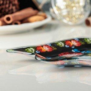 Блюдо сервировочное Доляна «Колокольчик. Цветы», 18?17,2 см
