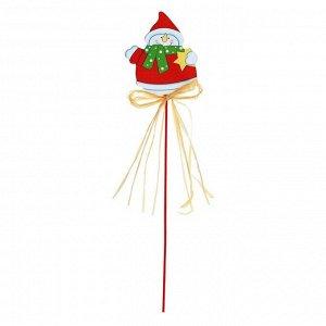 Декор на палочке «Снеговик»