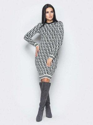 Платье Larionoff Белый-черный