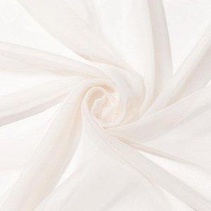 Тюль «Этель» 280?270 см. цвет молочный. вуаль. 100% п/э