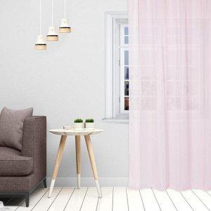 Тюль «Этель» 290?300 см. цвет розовый. вуаль. 100% п/э