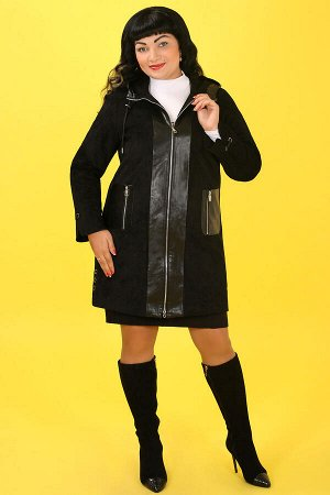 Черный Примечание:замеры длин соответствуют размеру 54 Длина пальто:88 см Длина рукава:62 см Подкладка:есть, синтепон Застежка:молния спереди Карманы:есть, два функциональных внешних, один функци