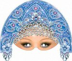 "Картонная маска ""Снегурочка"""