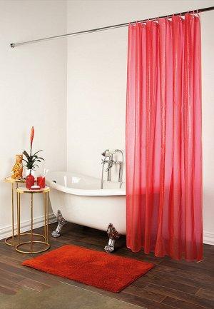 Шторка для ванны красная