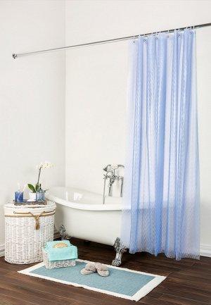 Шторка для ванны синяя