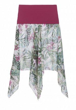 Пляжная юбка-трансформер, тропический принт