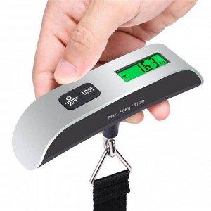 Весы ручные электронные до 50 кг для взвешивания багажа