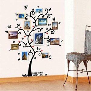 """Наклейка """"Дерево любви"""" виниловая самоклеящаяся – фон для рамок с фотографиями"""