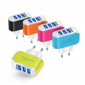 Зарядное устройство на три USB-порта с подсветкой