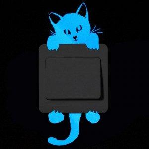Наклейка светонакопительная на выключатель самоклеящаяся в ассортименте