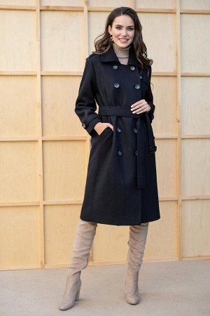 Пальто Пальто ЮРС 19-237/1  Состав ткани: ПЭ-40%; Шерсть-23%; Акрил-37%;  Рост: 164 см.  Классическое пальто – консервативный и стильный элемент гардероба, в котором каждая девушка выглядит жен