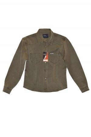 Рубашка джинсовая  с плотной ткани