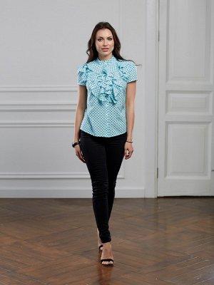 Блуза цвет мятный короткий рукав