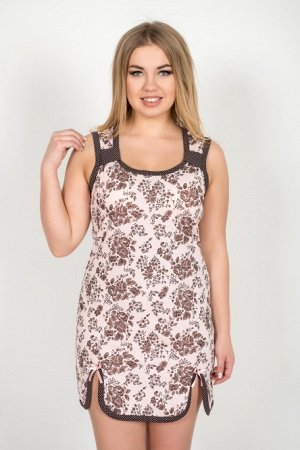 Сорочка 100% хлопок Тип ткани:  Кулирка Женственная сорочка из 100% натурального материала. Изделие без рукавов, длиной выше колена. Сорочка оформлена декоративными шлевками, а так же разрезами по низ