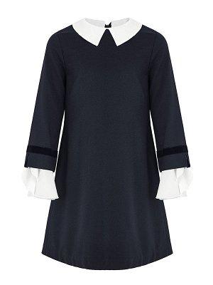Платье с манжетом-волан