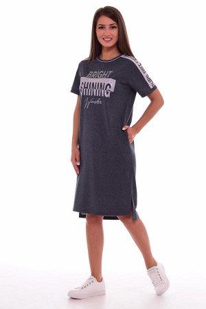 Платье женское 4-61в (тёмно-серый)