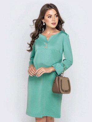 Симпатичное платье приталенного силуэта, цвет как на фото