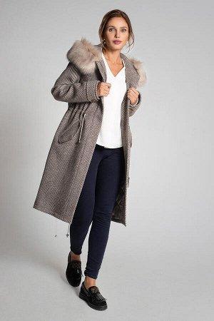 Пальто Gotti 163/5м серо-коричневый