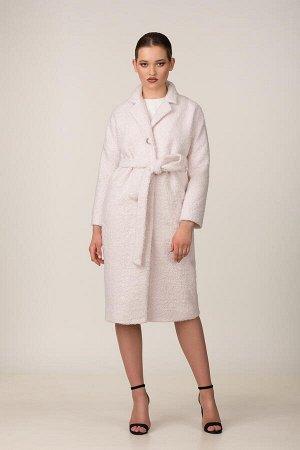 Пальто Пальто Rosheli 677 пудра  Состав ткани: Вискоза-20%; ПЭ-30%; ПАН-50%;  Рост: 164 см.  Пальто из мягкой пальтовой ткани на подкладке. Объемность, мягкость, фактура ткани «под ламу»,