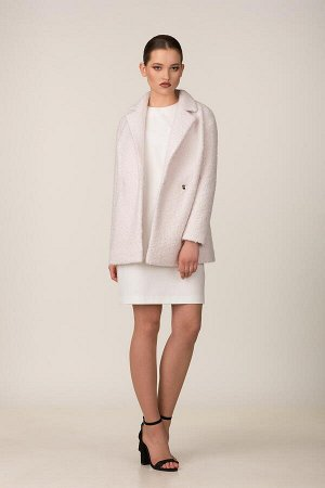 Пальто Пальто Rosheli 678 пудра  Состав ткани: Вискоза-20%; ПЭ-30%; ПАН-50%;  Рост: 164 см.  Полупальто из мягкой пальтовой ткани на подкладке. Объемность, мягкость, фактура ткани «под ламу&raq