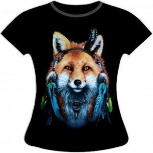 Женская футболка Лиса инди ST