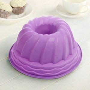 """Форма для выпечки """"Немецкий кекс. Заварное печенье"""" 23х10 см, цвета МИКС"""