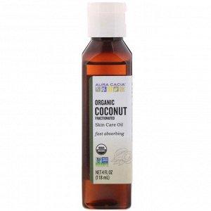 Aura Cacia, Органическое масло для тела, фракционированное кокосовое масло, 118 мл