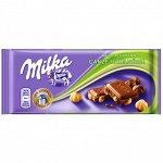 Шоколад Милка Milka Whole Hazelnuts,100 гр