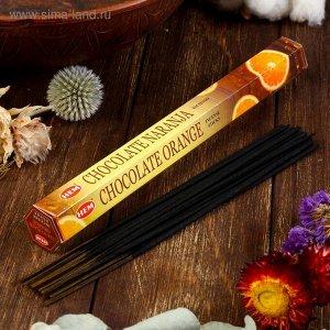 """Благовония HEM """"Orange Chocolate. Апельсин Шоколад"""", 20 палочек в упаковке, шестигранник"""