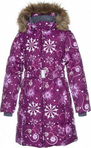 Пальто для девочек YACARANDA, бордовый с принтом