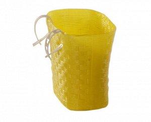 Багажник в виде корзины (пластмассовый) DY-A16 (1/100) жёлтая