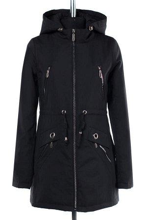 04-1929 Куртка ветровка демисезонная (синтепон 50) Плащевка черный