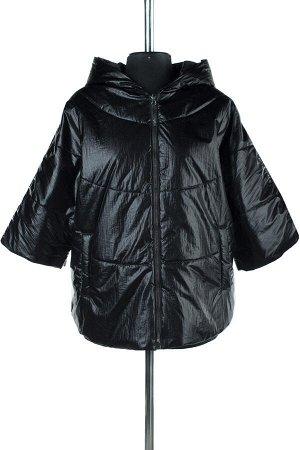 """04-2061 Куртка ветровка демисезонная """"University Action""""(синтепон 60) Плащевка черный"""