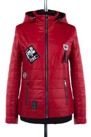 04-1849 Куртка демисезонная (синтепон 100) Плащевка красный