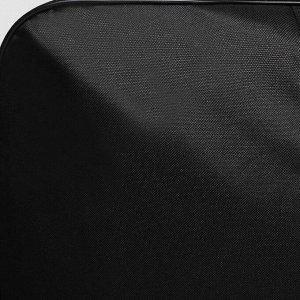 Сумка дорожная, отдел на молнии, 2 наружных кармана, цвет чёрный