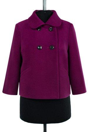 01-07786 Пальто женское демисезонное Пальтовая ткань фуксия