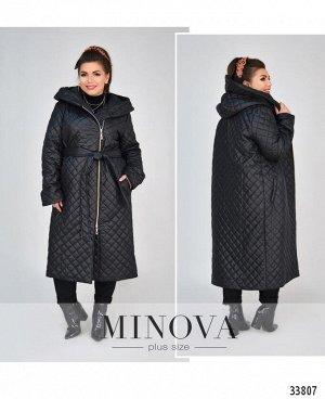 Пальто №1854-1-черный