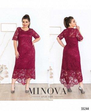 Платье №18-25-вишневый
