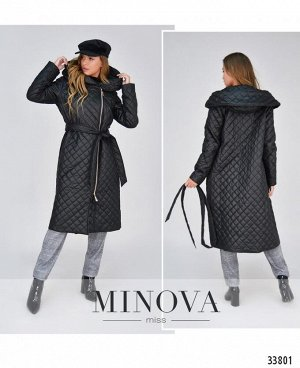Пальто №1854-черный