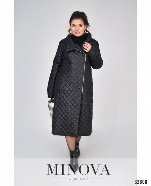 Пальто №1690-1-черный