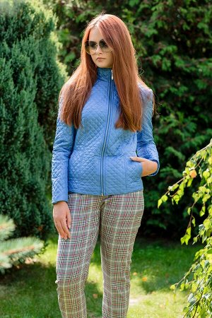 Куртка Куртка Vesnaletto 2160-Р  Состав ткани: ПЭ-100%;  Рост: 164 см.  Куртка демисезонная, стёганная, прилегающего силуэта. Спереди застёжка на тесьму-молнию 60 см, прорезные карманы. Рукав втачной
