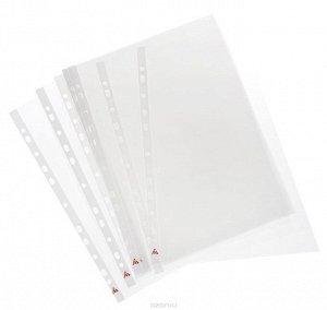 Папка-вкладыш с перфорацией, файл, А4, 40мкм, матовая