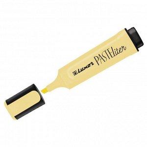 """Текстовыделитель Luxor """"Pasteliter"""" пастельный желтый, 1-5мм"""