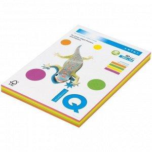 """Бумага IQ """"Color Neon Mixed Packs"""" А4, 80г/м2, 200л. (4 цвета)"""