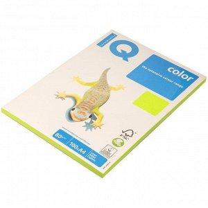 """Бумага IQ """"Color neon"""" А4, 80г/м2, 100л. (зеленый неон)"""