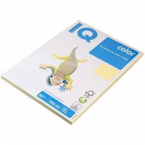 """Бумага IQ """"Color pale"""" А4, 80г/м2, 100л. (желтый)"""