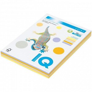 """Бумага IQ """"Color Trend Mixed Packs"""" А4, 80г/м2, 250л. (5 цветов)"""