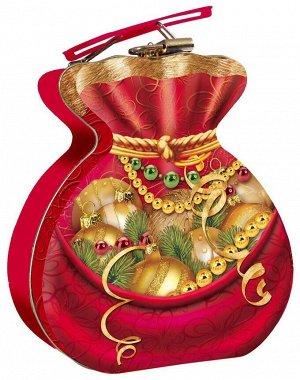 Упаковка для новогоднего подарка Мешочек подарков (жесть)
